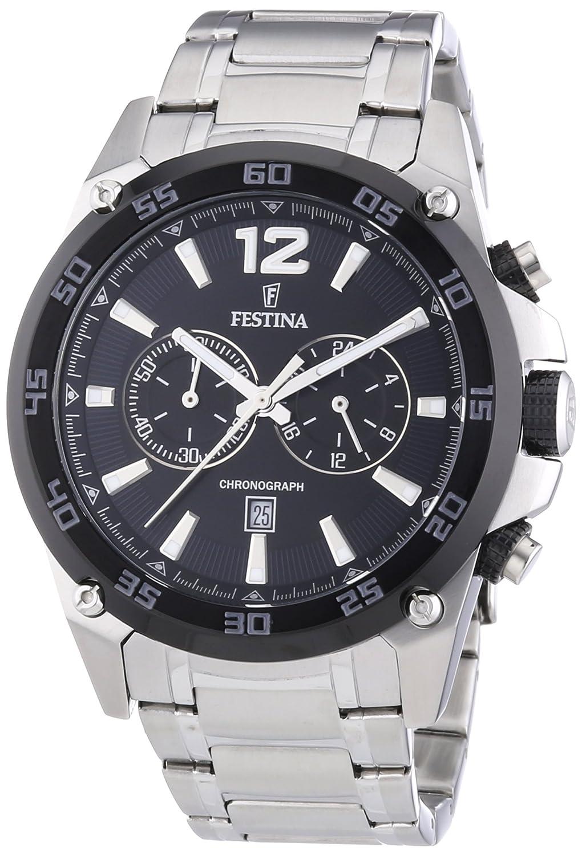 Amazon.com: Festina Chrono Sport F16680/4 Mens Chronograph Solid Case: Watches