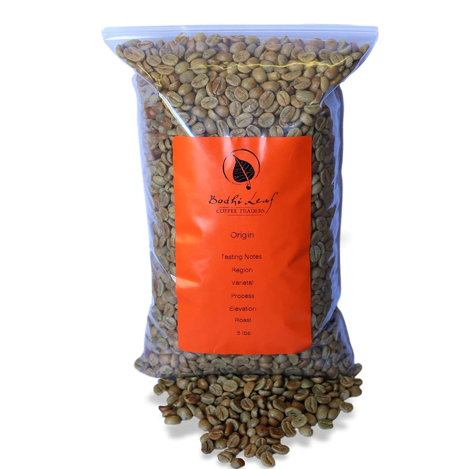 (5 lbs) Kenya Baragwi Unroasted Green Coffee Beans, Specialty Graded Raw African Beans for Home Roasting Bodhi Leaf Trading Company