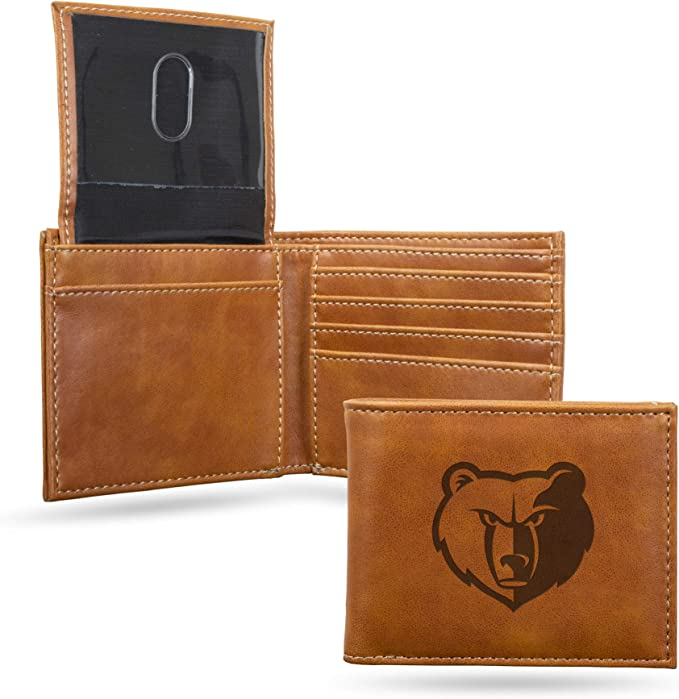 NBA Rico Industries Laser Engraved Trifold Wallet Memphis Grizzlies