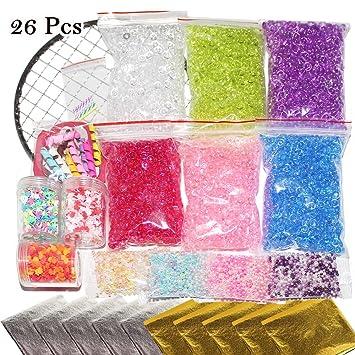 Slime DIY Kit para hacer suministros 26 Pack – Incluido pecera, imitación de perlas,