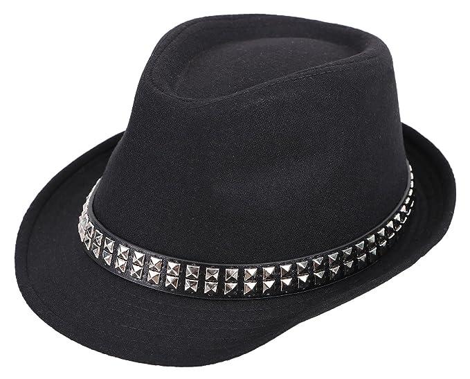 Boy's Trilby Short Brim Fedora Hat w/Hat Belt