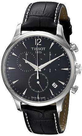 Tissot T0636171605700 - Reloj cronógrafo de caballero de cuarzo con correa de piel negra: Amazon.es: Relojes