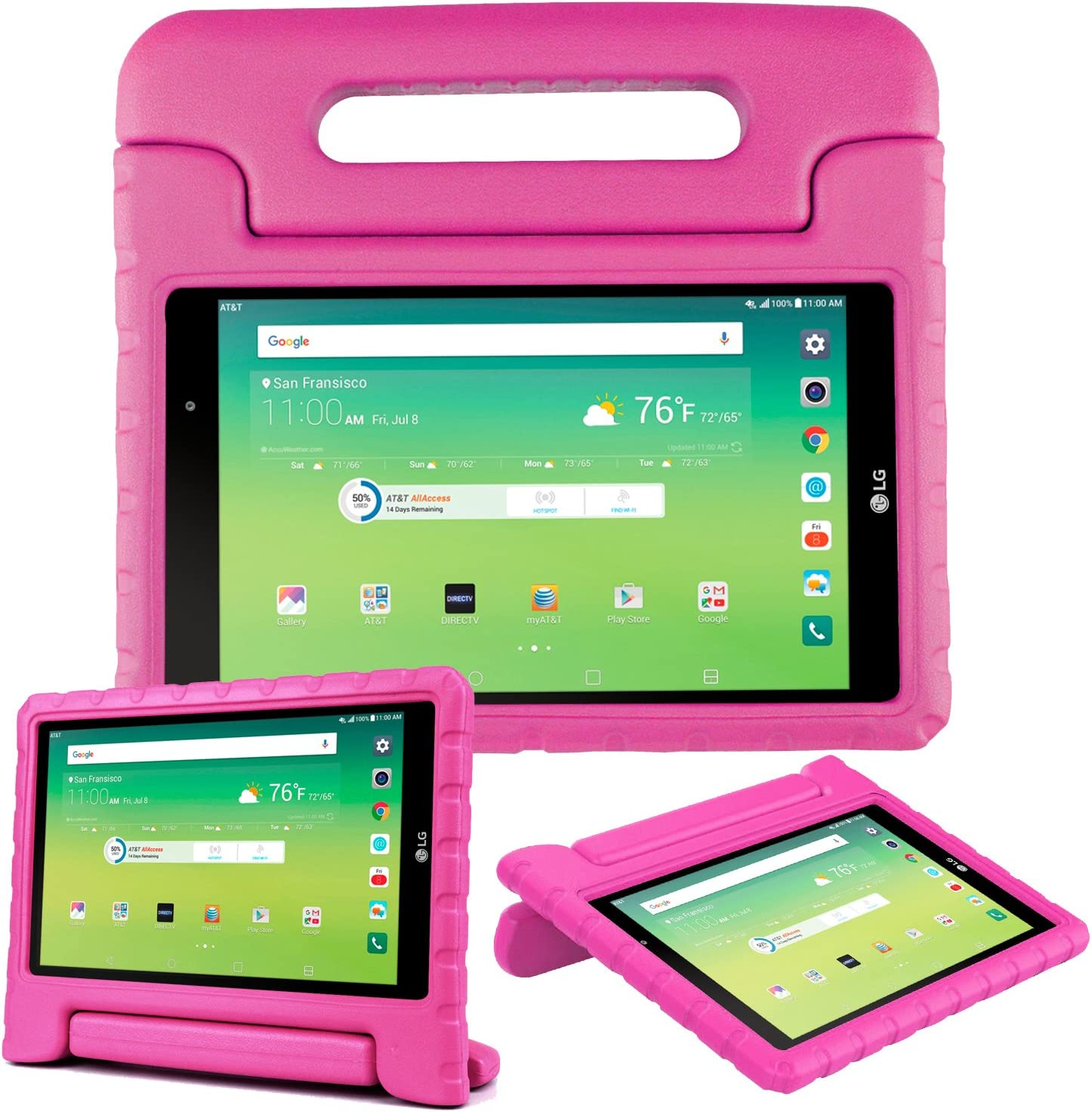 Bolete LG G Pad X 8.0 Inch kids Case, Shock Proof Super Protective Eva Foam Case Cover With Handle Stand for LG G Pad X 8.0 T-Mobile V521 / AT&T V520 Tablet, Rose