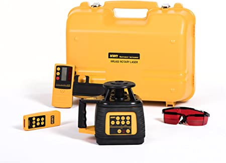 Nwi Nrl602 1 16 Accuracy Interior Exterior Laser Level W Slope Match Function With Rechargeable Batteries And Detector Rotary Lasers Amazon Com