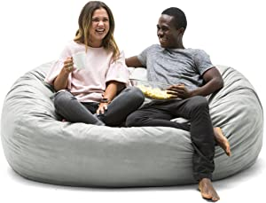 Big Joe 658 Lenox Fuf Foam Filled Bean Bag, Extra Large, Fog
