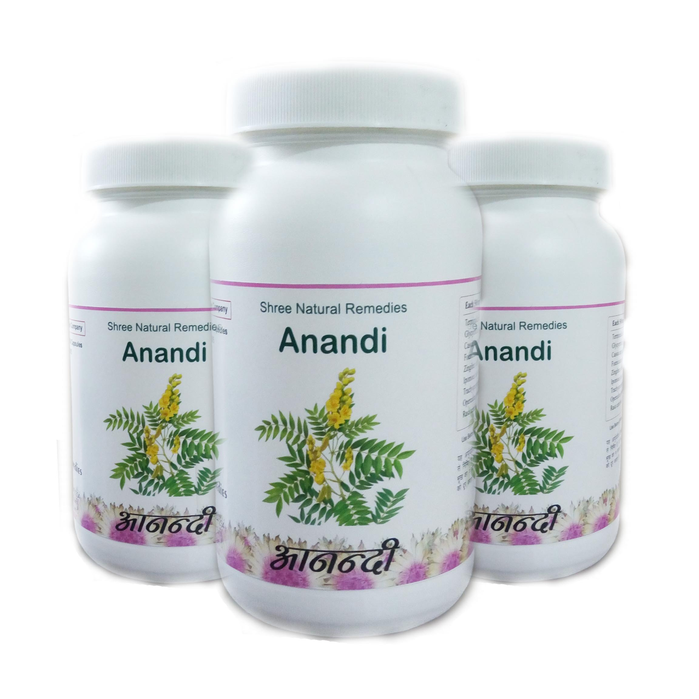 100% Ayurvedic Herbal Product Anandi Laxative Medicine 180 Capsules. SNR Product