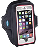 Armband for iPhone 8 7 6s 6 with OtterBox Defender Case - Fits Galaxy S6 S7 S8 and iPhone X with LifeProof/Large Case - for Running and Working Out - Sweat-Resistant [Black]