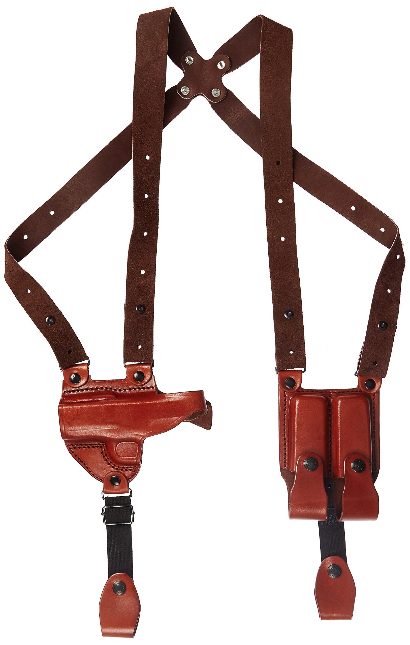 Tagua SH4-208 Full Slide Shoulder Holster, 1911-3'' Compact, Brown, Left Hand