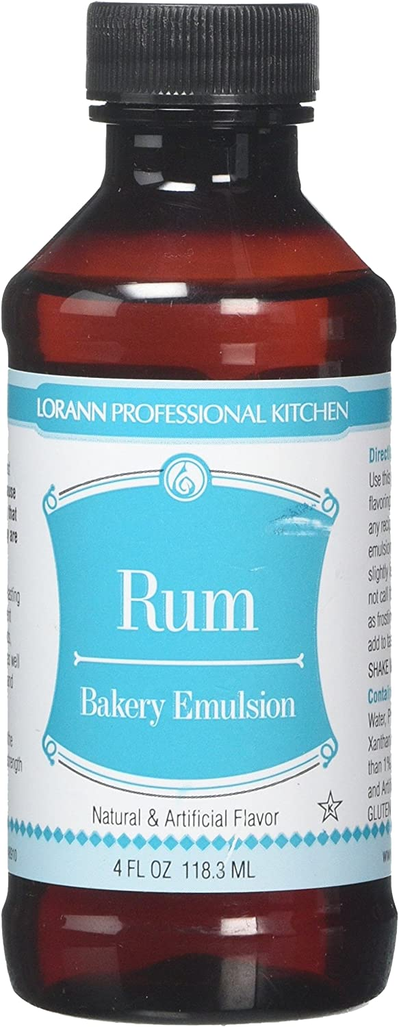 LorAnn Oils Emulsion, Rum, 4 Ounce