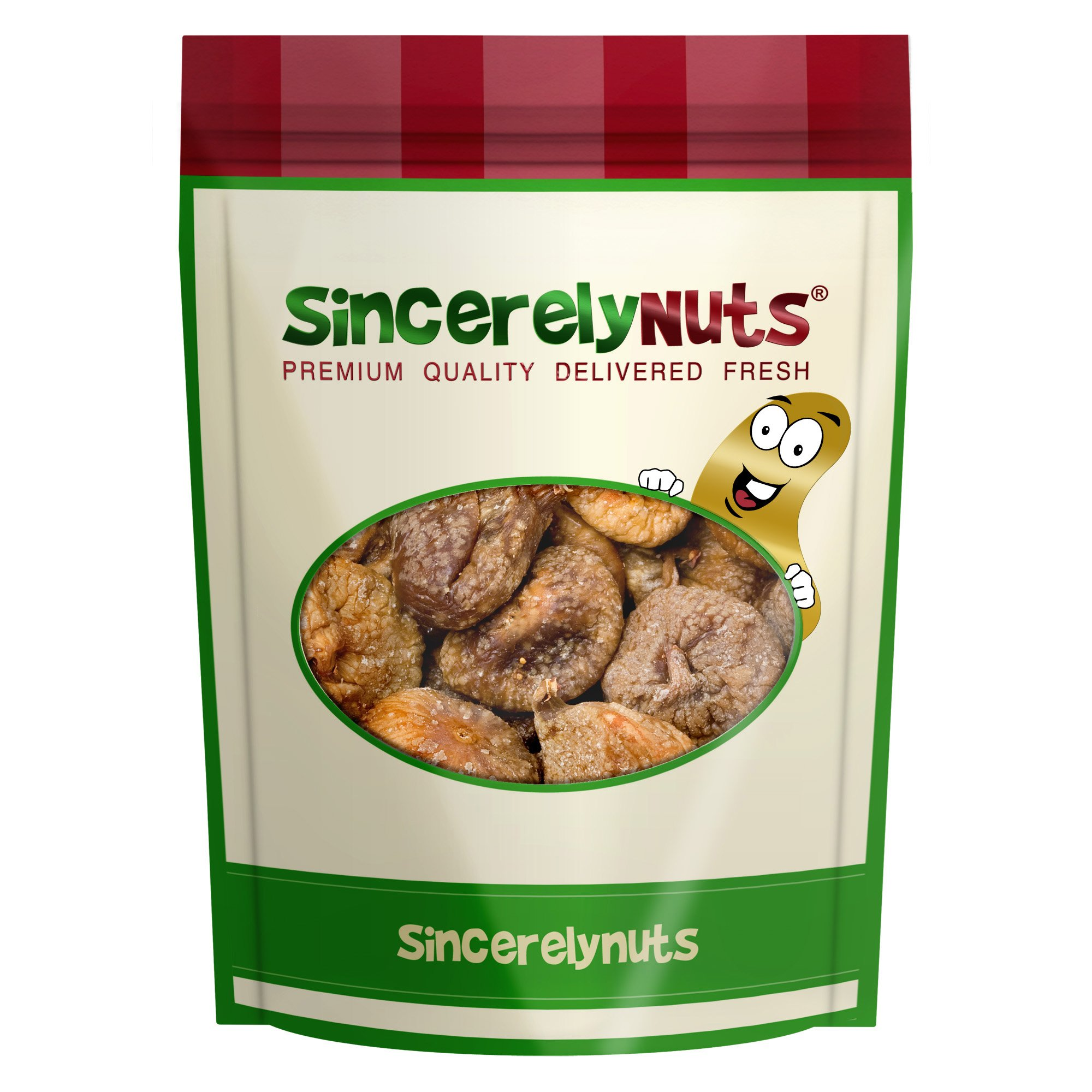 Sincerely Nuts Certified Organic Dried Turkish Figs - Three Lb. Bag - Astoundingly Appetizing - Sealed for Freshness - Nutrient Rich - Kosher Certified