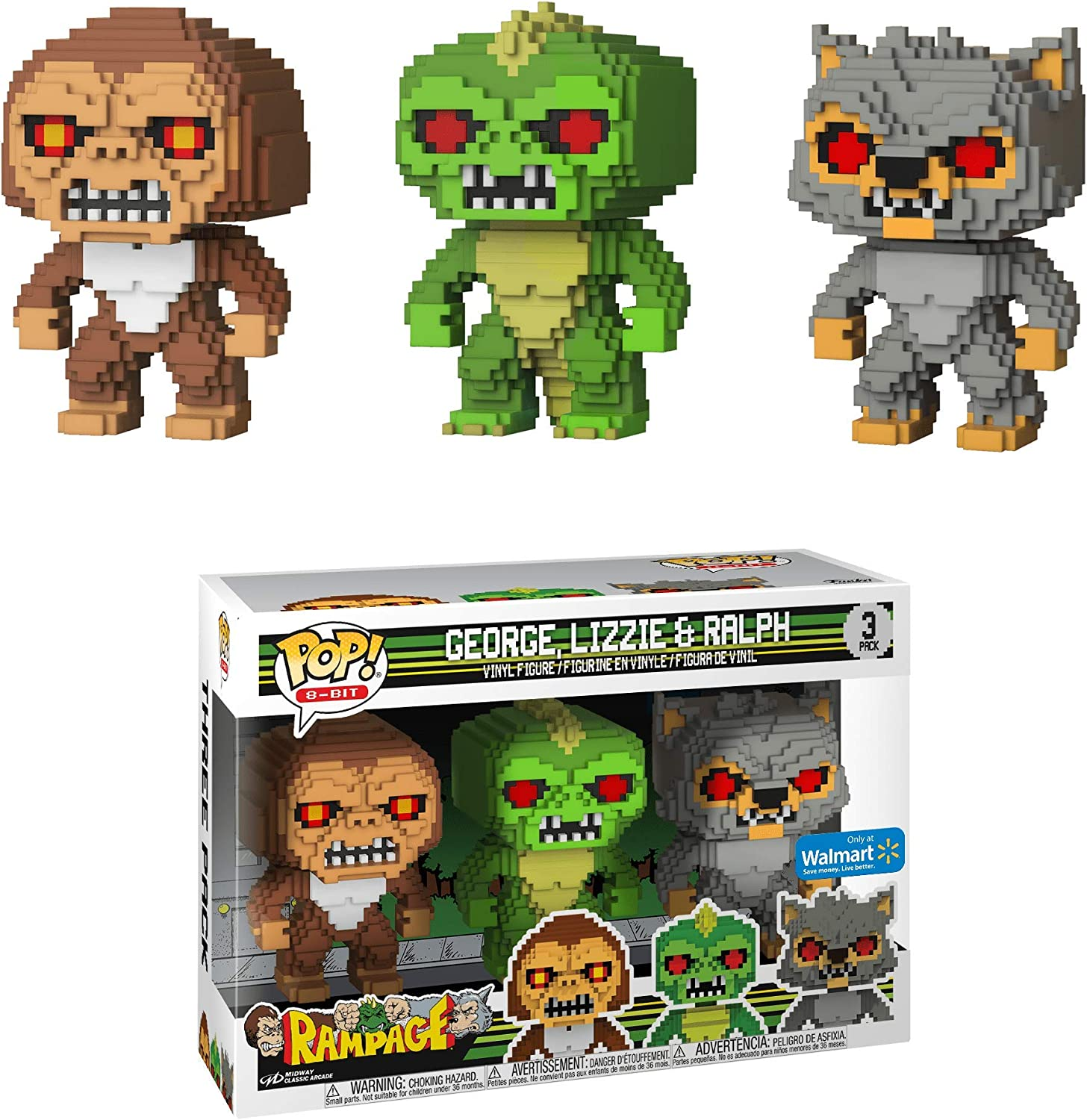 Amazon Com Rampage George Lizzie Ralph 3 Pack Pop Vinyl