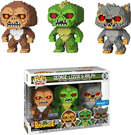 Amazon Com Rampage George Lizzie Ralph 3 Pack Pop Vinyl Funko Toys Games