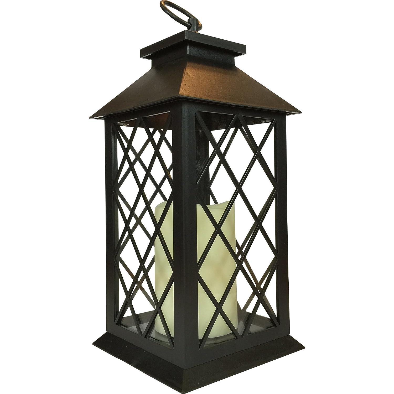 Tradizionale design quadrato lanterna portacandela con candela LED 33cm S Green & Sons