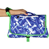 My Milestones Insta Baby Diaper Changing Pad Changing System - Blue Abstract