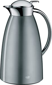 alfi Gusto Glass Vacuum Lacquered Metal Thermal Carafe for Hot and Cold Beverages, 1.0 L, Space Grey