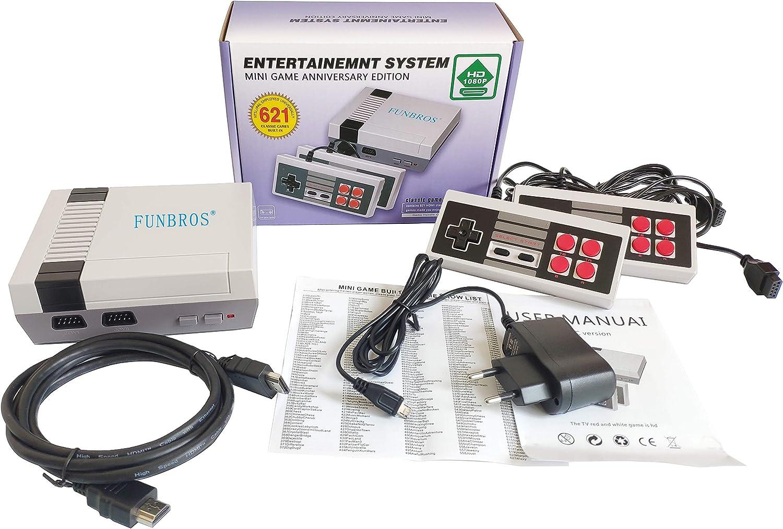 Consola de juegos retro Mini consola clásica Reproductor de juegos de TV Consola de juegos familiar, juegos incorporados de alta calidad 621, trae recuerdos felices de la infancia, salida HDMI
