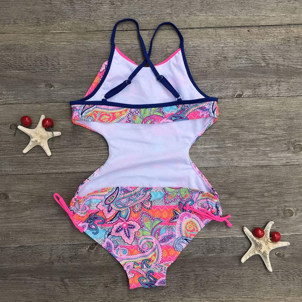 Africa Style Print One-Piece Swimsuit Beach Swimwear Bathing Suit for 11-16 Years Teen Girls GorNorriss Swimsuit