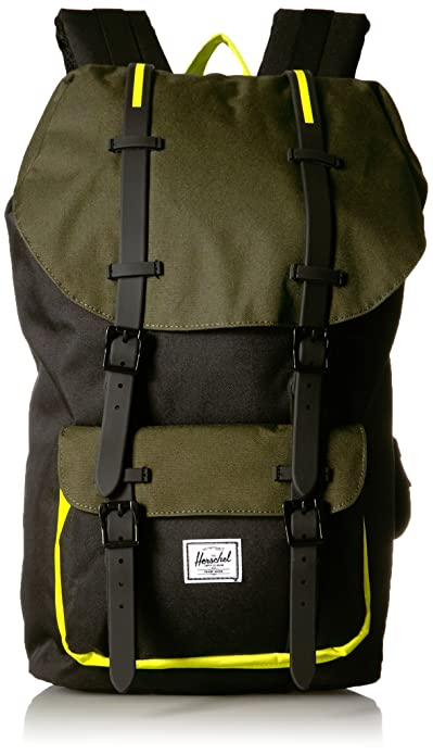 Mochila Herschel Little America Black/Forest Night/Evening Primrose: Amazon.es: Zapatos y complementos