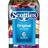 Scotties Original Soft and Strong Facial Tissues, Hypoallergenic and Dermatologist Approved, 6 Boxes, 126 Tissues per Box