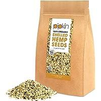 Pipkin SEMI DI CANAPA 100% Bio Organici 500g, Cuori di semi di canapa confezionati con proteine, fibre, vitamine e aminoacidi, senza glutine e ricchi di Omega 3, 6 e 9 Non-GMO (Sgusciati)