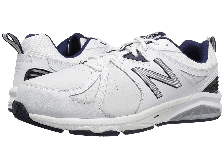 (ニューバランス) New Balance メンズトレーニング競技用シューズ靴 MX857v2 White/Navy 8 (26cm) D - Medium   B0789JTNYT