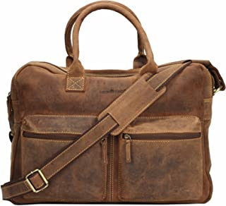 Greenburry Vintage Aktentasche Leder 40 cm Laptopfach