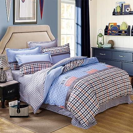 Superb FTSUCQ Burberry Linen Bed Sheets Quilt Covers Bed Mattress Bedding Four PCS  Sets,size