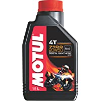 Motul 7100 4T 20W-50 API SN Fully Synthetic Petrol Engine Oil for Bikes (1.5 L)