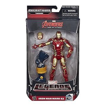 Marvel Legends Serie Infinita Iron Man Mark 43 15 cm Figura - Vengadores: La era de Ultrón