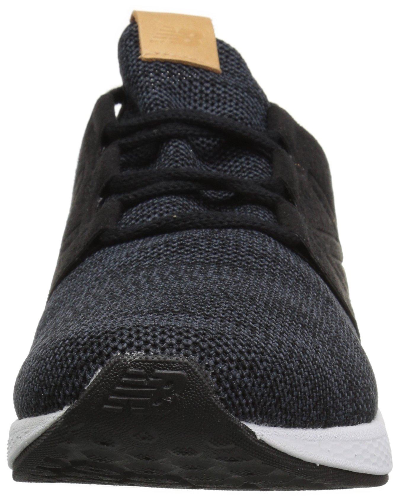 New Balance Men's Cruz V2 Fresh Foam Running Shoe, black/white, 7 D US by New Balance (Image #4)