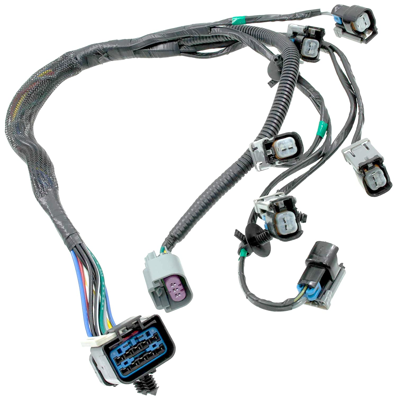 Apdty 022190 Fuel Rail Injector Wiring Pigtail 2006 Ford F350 6 0 Ficm Relay Location Connector Complete Harness Fits 2001 2003 V6 33l Or 38l Grand Voyager Town Country