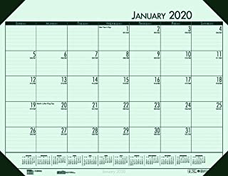 product image for House of Doolittle 2020 Monthly Desk Pad Calendar, EcoTones, Green Paper, 22 x 17 Inches, January - December (HOD12471-20)