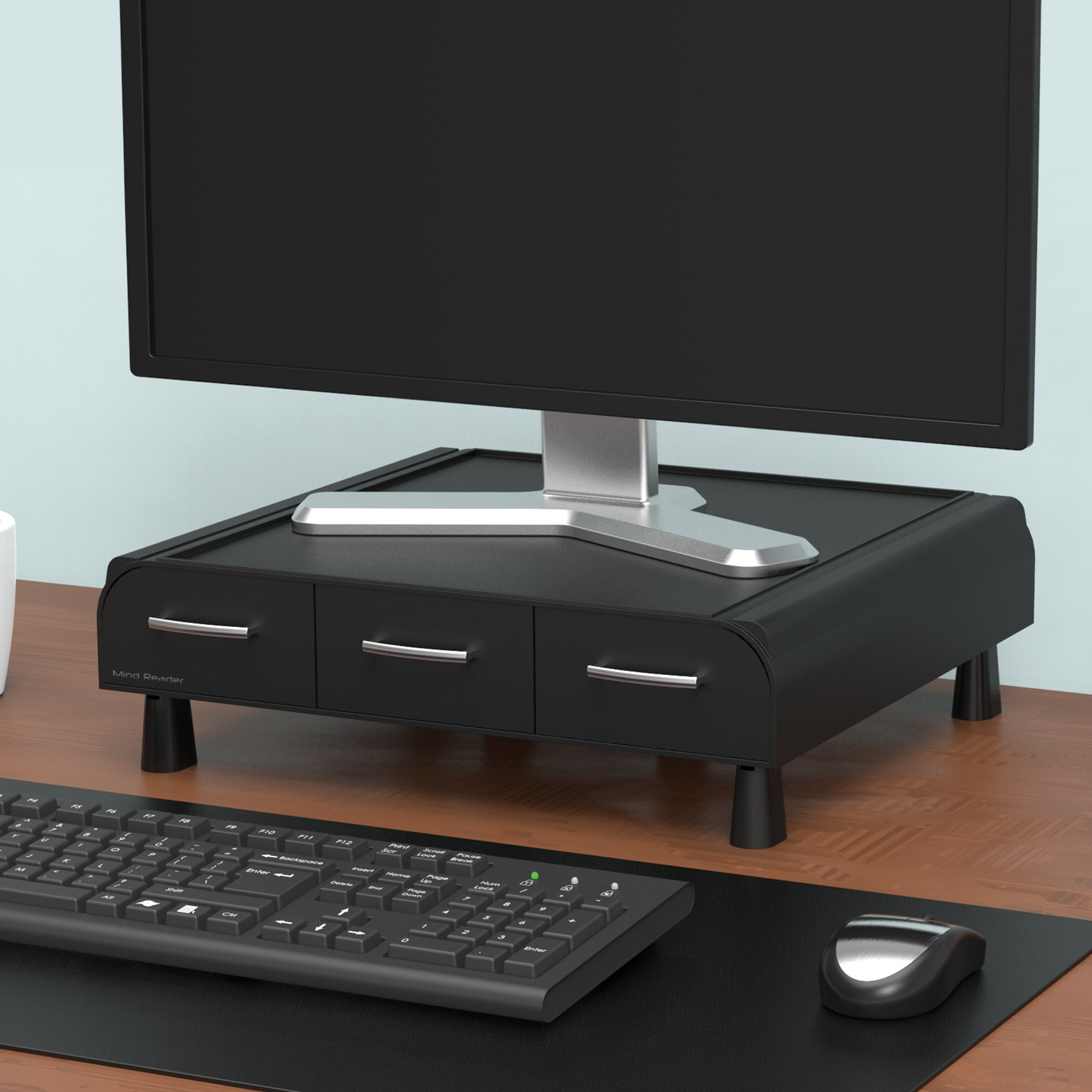 Mind Reader PC, Laptop, IMAC Monitor Stand and Desk Organizer, Black by Mind Reader (Image #5)