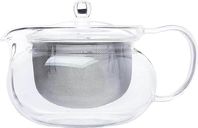 Amazon.com | Hario Cha Kyusu Maru Tea Pot, 700ml, glass: Glass Tea Pot: Teapots
