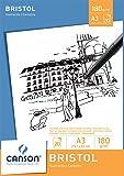 Canson 200005762 - Bristol Zeichenpapier A3, 180 g/m², 20 Blatt, weiß