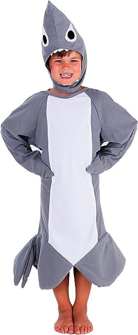 Tiburón Disfraz infantil – Disfraz de pez para niños para niños y ...
