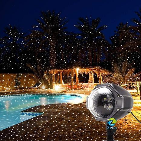 Proyector de Copo de Nieve LED Navidad Proyector Luces Navidad Luz ...