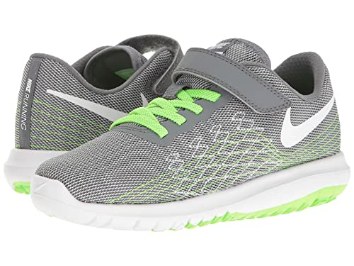 33a346d80d20 Nike Kids Flex Fury 2 Infant Toddler Cool Grey White Wolf Grey Electric  Green Boys Shoes  Amazon.ca  Shoes   Handbags