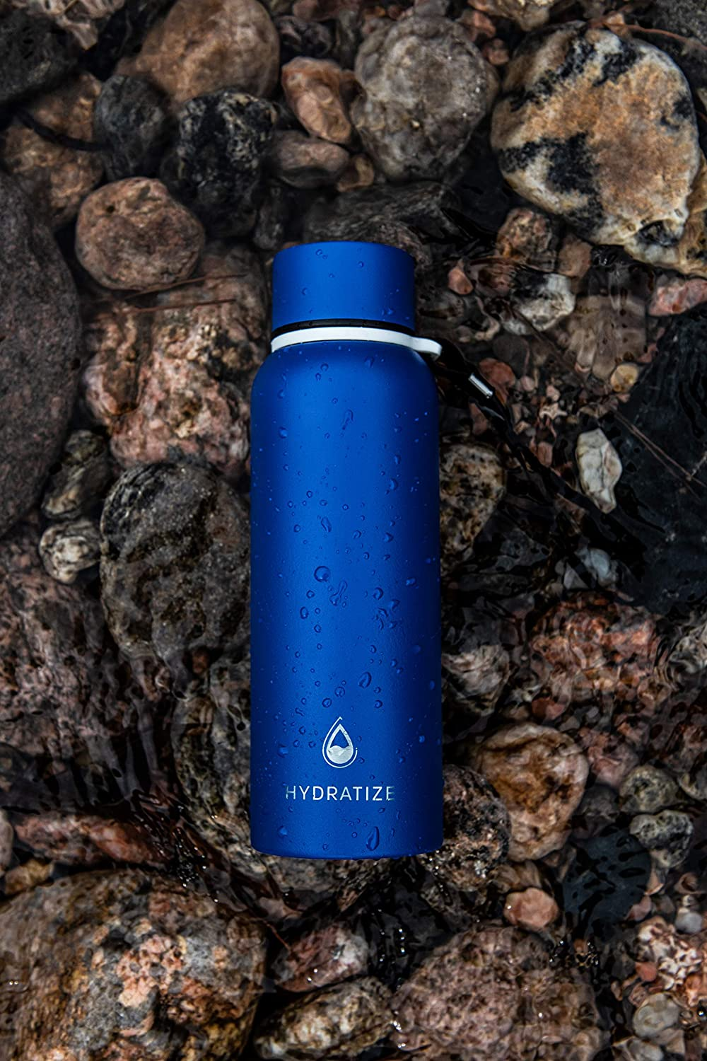 Hydratize Stainless Steel Lightweight Water Bottle-Vacuum /& Thermal Insulation Waterbottle-Equipped with Wide Mouth//Leak-Proof Lid