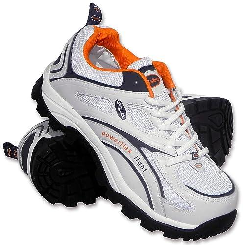 watch 0c4e6 7f000 Charlie Barato® Unisex - Erwachsene Sicherheitsschuhe S1P LOG986 Weiß -  Stahlkappe, durchtrittsicher, rutschhemmend, antistatisch, Action-Leder