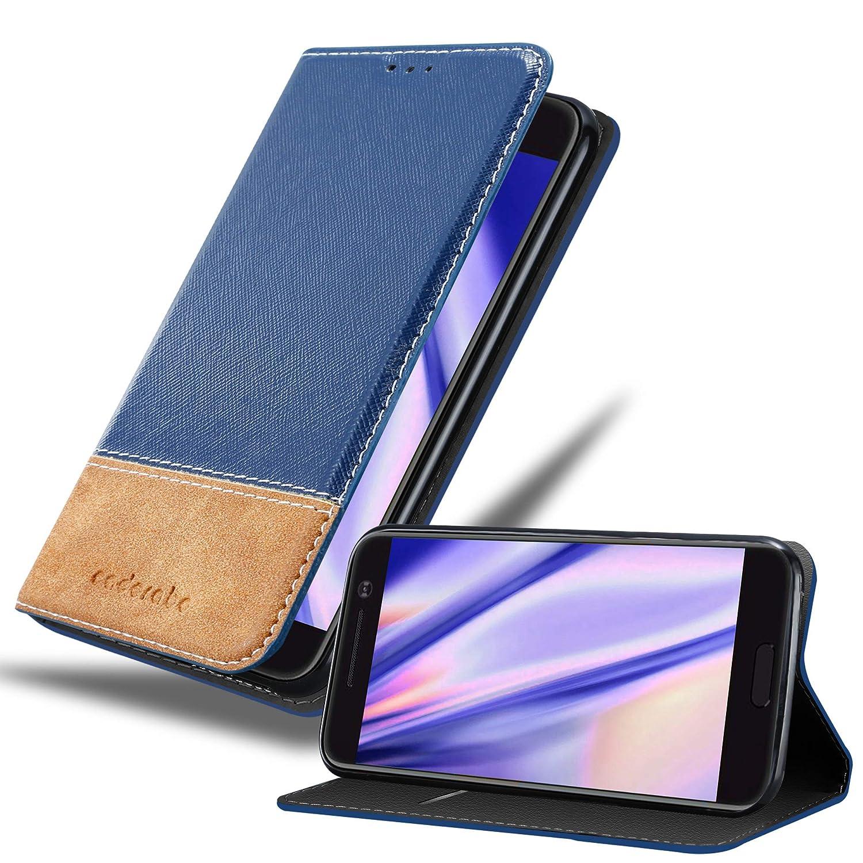 Cadorabo Funda Libro para HTC 10 (One M10) en Azul MARRÓN