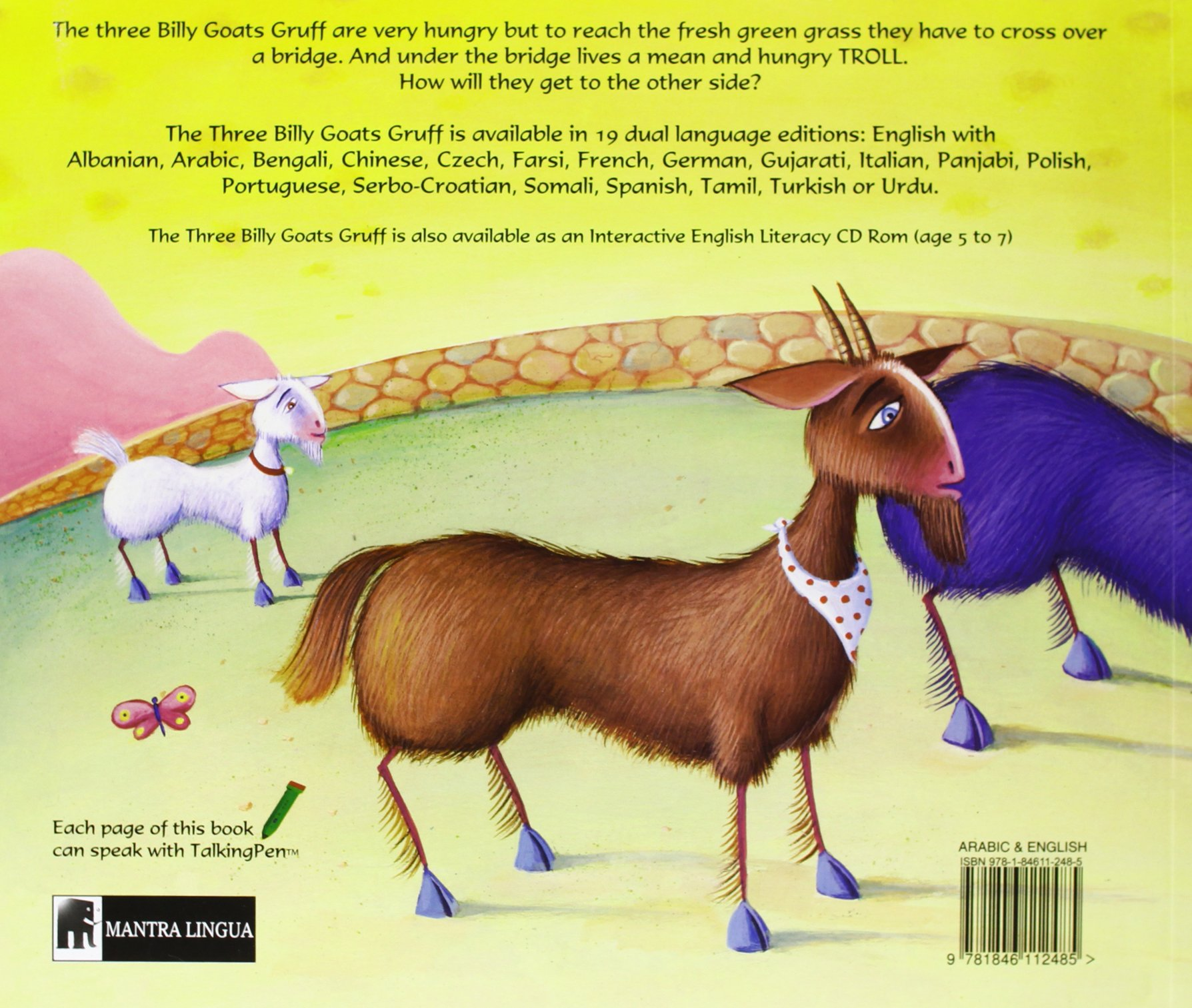 Mantra Lingua The Three Billy Goats Gruff, Arabic and