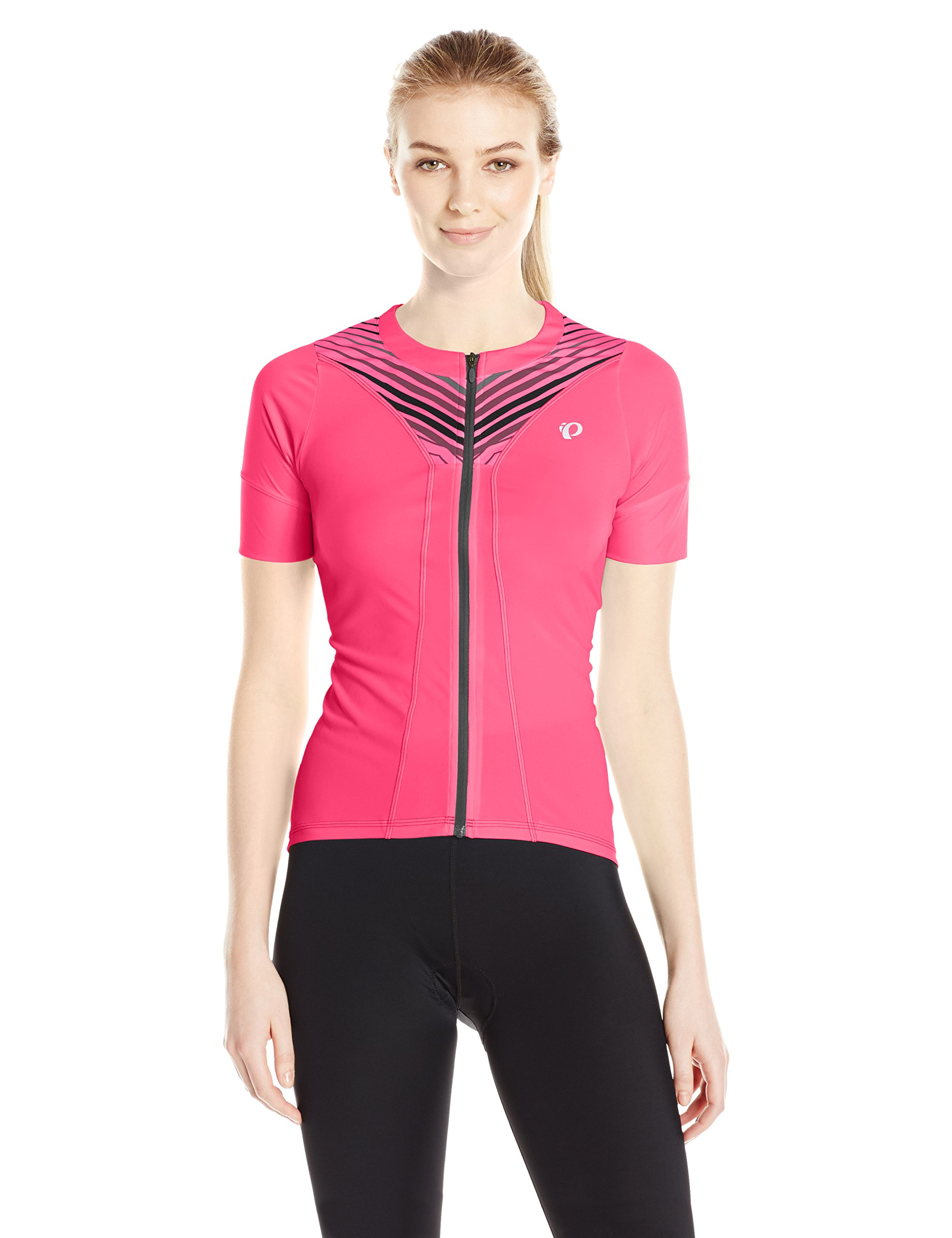 PEARL IZUMI Women's W Select Pursuit Short Sleeve Jersey, Screaming Pink Whirl, Large by PEARL IZUMI