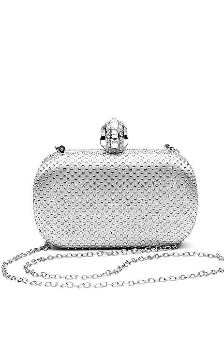 Nothing But Love Las mujeres monedero del embrague billetera duro caso noche bolsa bolso de mano Studded con correa de cadena: Amazon.es: Zapatos y ...