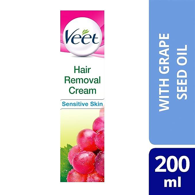 Crema depilatoria Veet inspiraciones de pelo natural para la piel sensible, 200ml: Amazon.es: Salud y cuidado personal