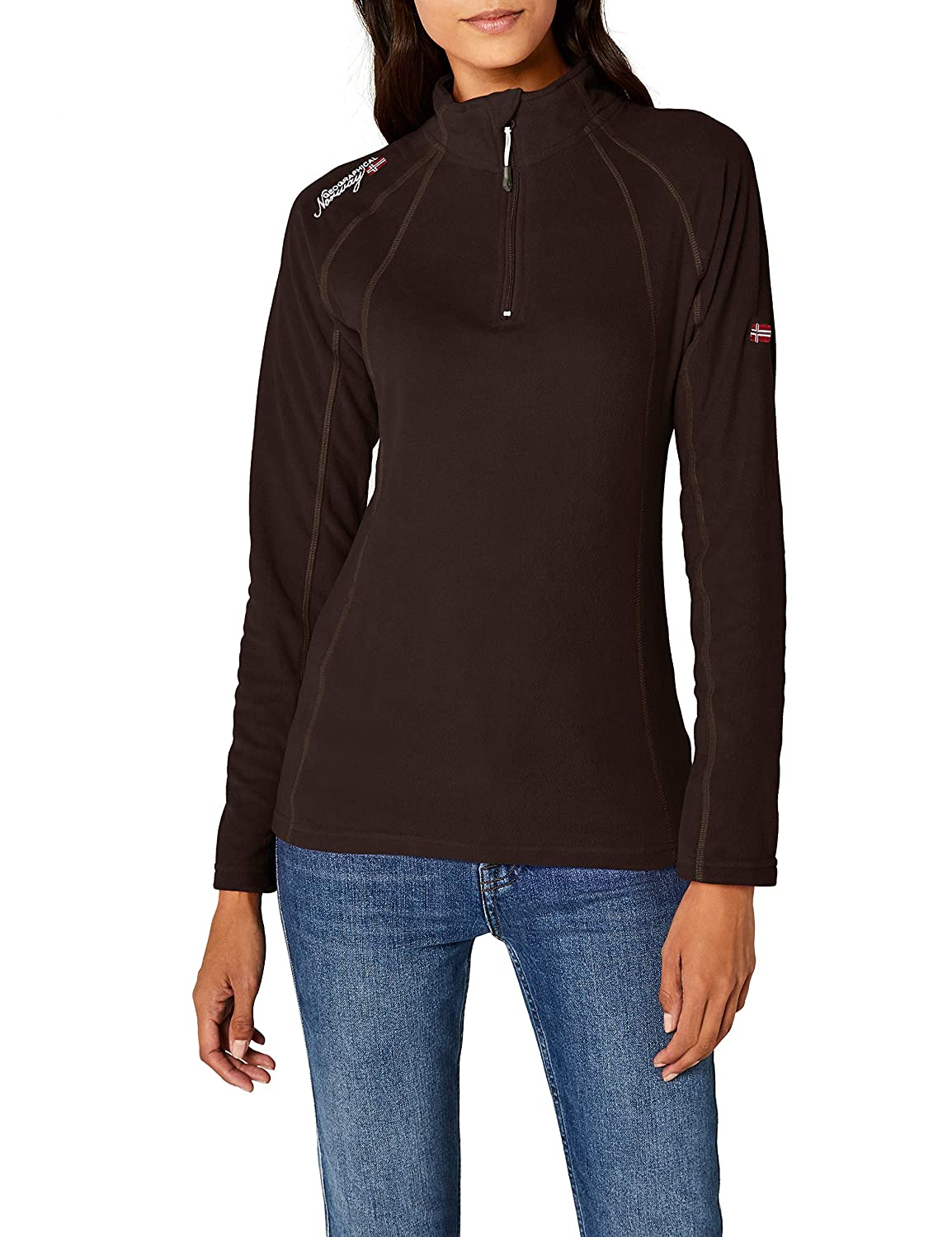 TALLA S. Geographical Norway Talmud Lady Half Zip Chaleco para Mujer