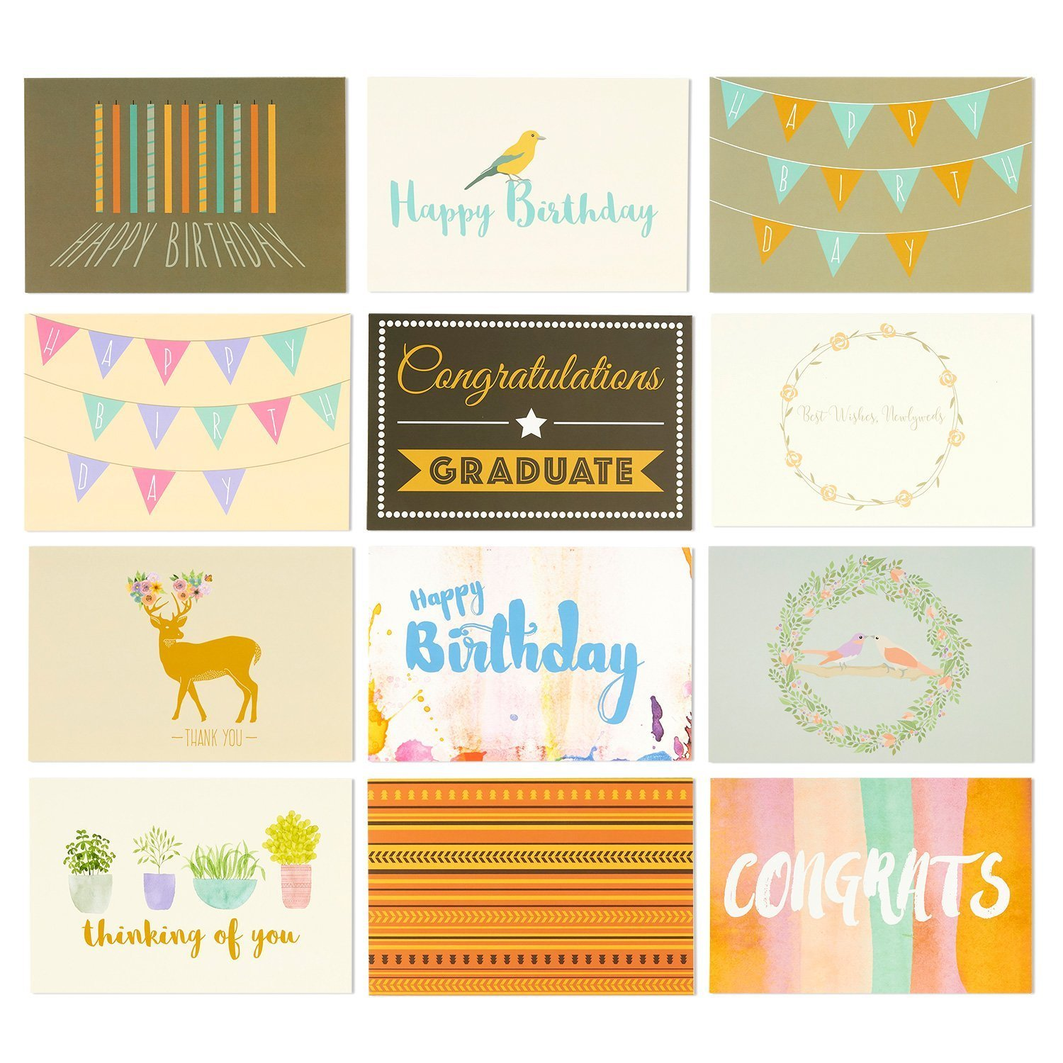 Amazon 48 Pack Assorted All Occasion Greeting Cards Includes
