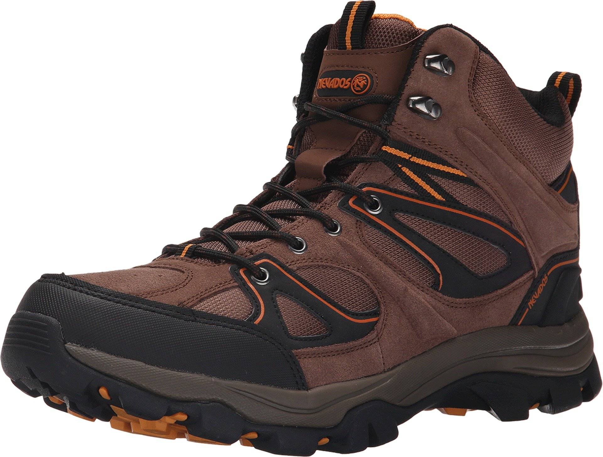 Nevados Men's Talus Hiking Boot, Dark Tan/Black/Orange, 12 M US