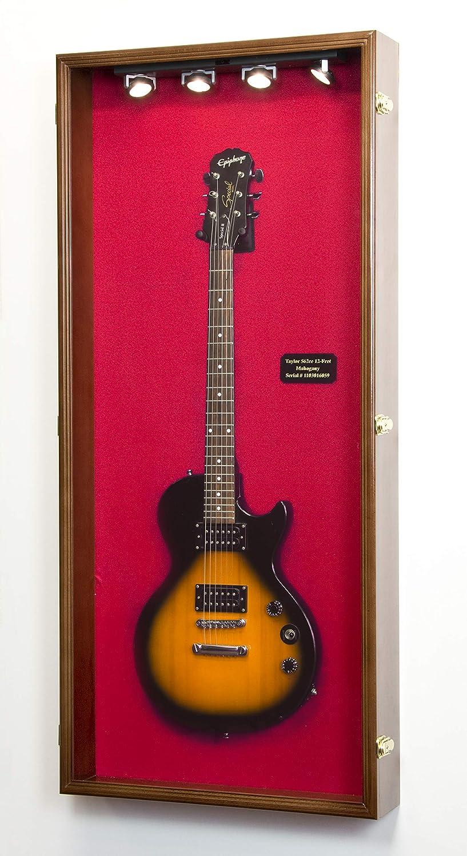 Electric Bassフェンダーギターディスプレイケースキャビネット壁ラックホルダー98 % UV Lockable 50 x 22