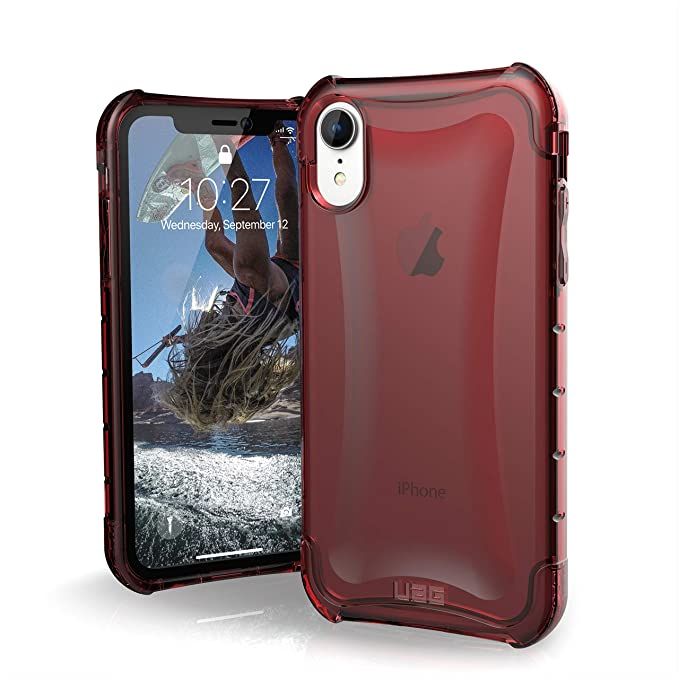 the latest 05a2d b1727 URBAN ARMOR GEAR UAG iPhone XR [6.1-inch Screen] Plyo Feather-Light Rugged  [Crimson] Military Drop Tested iPhone Case